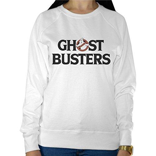 Felpa Leggera Donna Scritta Ghost Buster Acchiappa Fantasmi