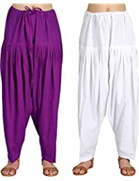 Crafts 100% Pure Solid Cotton Semi Patiala Salwar Bottoms Indoor Outdoor For Women's & Girls( Free Size , Color... - B0762KB3TS
