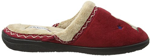 Pantofole Da Donna Paddy Tabby Rosso (42 Rosso)