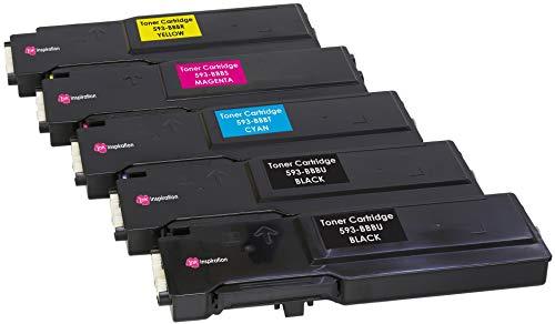 5er Set Premium Toner kompatibel für Dell C2660 C2660dn C2665 C2665dnf | Schwarz 6.000 Seiten & Color je 4.000 Seiten - Dell Drucker