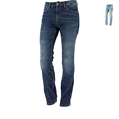 Richa Nora Ladies Aramid Motorcycle Jeans + Knee Armour SW Blue