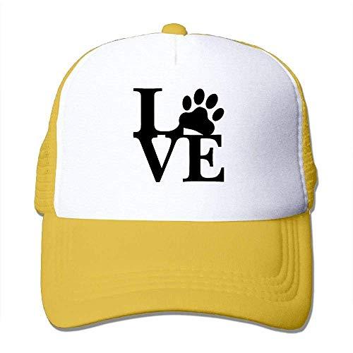 Cord-mesh Back Cap (Hoswee Unisex Kappe/Baseballkappe, Men Women Classic Mesh Back Trucker Hats Love Paw Air Mesh Polyester Cap)