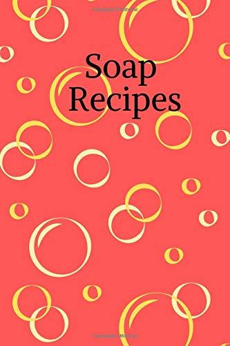 Soap Recipes: Notizbuch für Seifen- und Naturkosmetikrezepte * 120 Seiten * kariert * rot, Bubbles