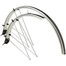 Cicli Bonin Unisexe Plastique Garde-boue Ailes, Argent/carbone, 71,1cm