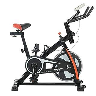 Homgrace Indoor Cycle Cycling Bike Speedbike Heimtrainer Fitnessbike Fitness Fahrrad mit 8KG Schwungrad für Zuhause, bis 150 kg belastbar, 110 x 50 x 115 cm (Schwarz & Rot)