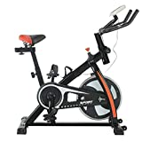 Hehilark Fitnessbike Indoorcycling Fitness Indoor Cycle Crosstrainer Spinning Bikes Heimtrainer-Fahrrad mit LCD Anzeige, 6kg Schwungrad, Armauflage bis 120Kg