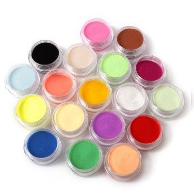 18 pièces de poudre de poussière de paillettes pour la décoration des ongles-FashionLife Nail Sticker Tatto - FashionLife