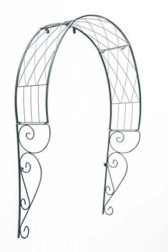 Clp arco per rampicanti da appendere alla porta, in metallo | arco per porta di ingresso, trattato e verniciato in verde | arco decorativo per ingresso, per rose e piante rampicanti | sostegno per piante verde