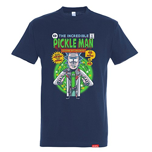 Camiseta The Incredible Pickle Man – Rick & Morty - Color Azul - 100