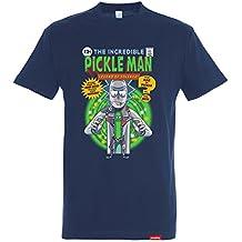 Pampling Camiseta The Incredible Pickle Man – Rick & Morty - Color Azul - 100% Algodón - Serigrafía de Alta Calidad