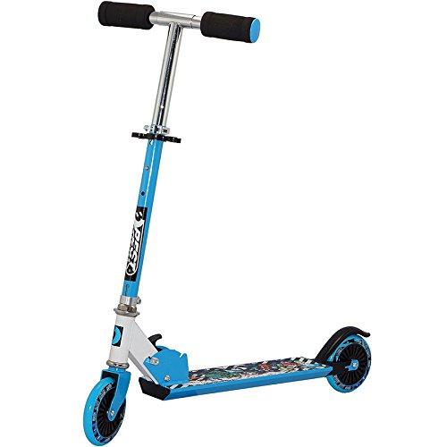 Best Sport Kinder Scooter Mit Abec-5 73-83 Cm Scooter, blau/weiß, M, 2307275