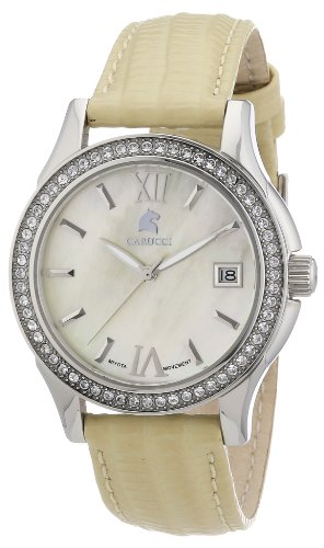 Carucci Watches Women's Automatic Watch CA2188YL with Leather Strap