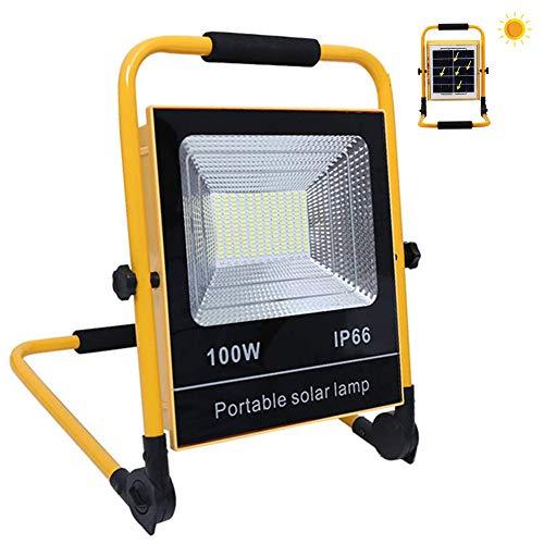 Faretto Portatile LED Ricaricabile 100W 8000 Lm Proiettore da Cantiere Led,Batteria Integrata 18000 Mah, 4 Modalità di Luminosità, Lampada da Lavoro Per Campeggio All'aperto Impermeabile, Officina
