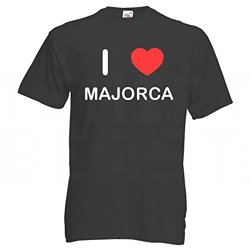 I Love Majorca - T Shirt Schwarz