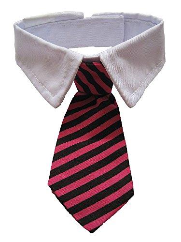 niceEshop(TM) Hund Katze Halsschleife Krawatte Fliege(Rot Schwarz Streifen) -
