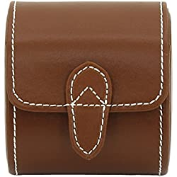 friedrich|23 Unisex Watch Roll for 1 Watch Genuine Leather Brown 26390 3