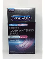 Rapid White Express Sensitive - 5 minute dissolving tooth whitening strips