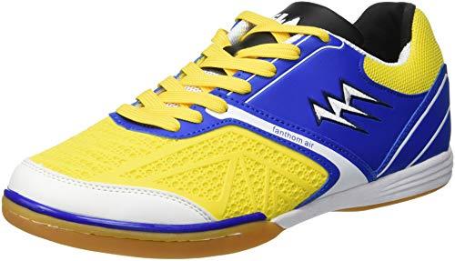 Agla Fanthom Scarpe Da Futsal Indoor, Blu/Giallo Fluo, 26.3 cm/41.5