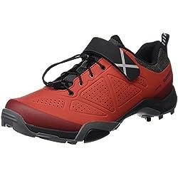 Shimano SHMT5OG430SR00, Zapatillas de Ciclismo de Carretera para Hombre, Rojo (Red), 43 EU