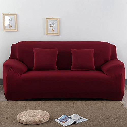 3-sitz-sofa-abdeckung (Umiwe Sofa Überwürfe Sofabezug Hohe Elastizität Schutzhülle Waschbar Sofahusse Abdeckung Dauerhafter Stilvoller Möbelbezug Zuhause für 1/2/3 Sitze Sessel LoveSeat (3 Sitze, Rot))