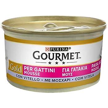 Gourmet purine Gold Humide Chat Mousse pour Chatons avec Veau-24canettes de chacune 85g (Pack de 24x 85g)