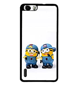 printtech Minions Back Case Cover for Huawei Honor 6 Plus