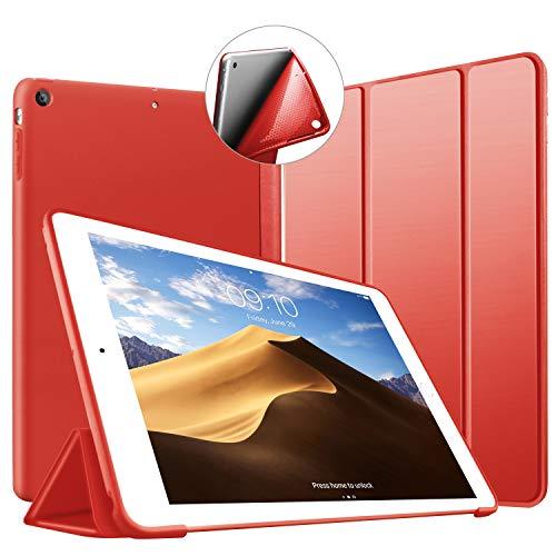 Custodia per iPad Air, VAGHVEO Ultrasottile e Leggere Smart Case con funzione Auto Sleep/Wake Silicone Morbido TPU Cover per Apple iPad Air 1 9.7 Pollici Uscito a 2013 (Modello A1474,1475,1476), Rosso