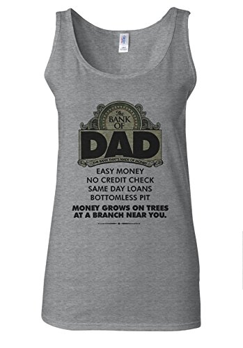 The Bank Of Dad Easy Money Funny White Women Vest Tank Top Spotif Gris