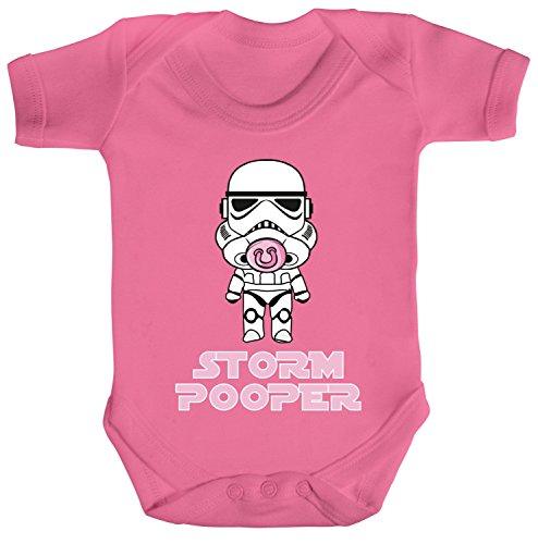 Geschenk zur Geburt Strampler Bio Baumwoll Baby Body Kurzarm Jungen Mädchen Mädchen - Stormpooper, Größe: 3-6 Monate,Bubble Gum Pink
