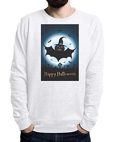 Lilij Halloween Party, Happy Monster, Halloween Vampires Men's Sweater Weiß XX-Large