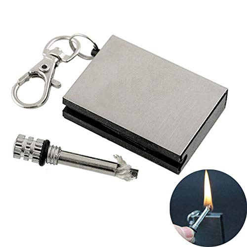 BOLLAER Boller Briquet de Survie en métal avec Porte-clés, idéal pour Le Camping, la randonnée, Les barbecues
