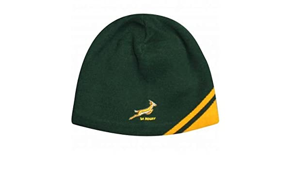 0dcc3489e5b South Africa Springboks Rugby Beanie Hat by ASICS  Amazon.co.uk  Sports    Outdoors