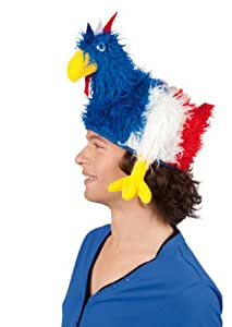 Deguisement-discount - Chapeau coq bleu blanc rouge