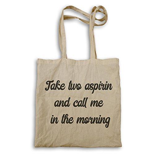 Preisvergleich Produktbild Nehmen Sie Zwei Aspirin Und Rufen Sie Mich Am Morgen Tragetasche k406r