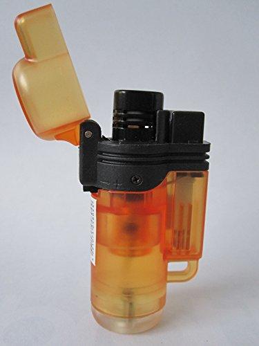 Mysale24 Mini Bunsenbrenner Flambierer Creme Brulee Shisha Brenner Strum Feuerzeug Zigarren Brenner bis zu 1250 grad Blue/Jet Flame