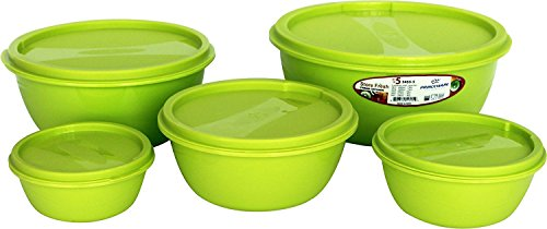 Princeware Store Fresh Plastic Bowl Package Container, Set of 5