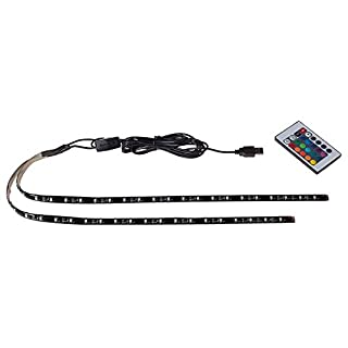 ALCAPOWER USB LED TV Strip Light 2 Strips 50cm RGB Remote Control 5V RGB - Multicoloured