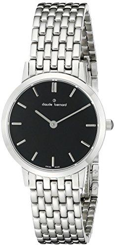 Claude Bernard Women's 20201 3M NIN Slim Line Analog Display Swiss Quartz Silver Watch