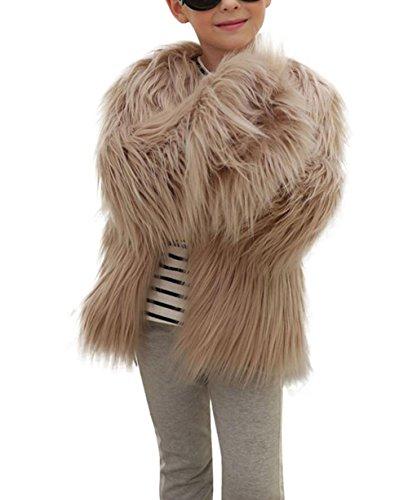 Babykleidung Faux Jacke Hirolan Kinder Baby Mädchen Faux Pelz Mantel Dick Jacke Dick Warm Lange Hülse Outwear Herbst Winter Kleider (90cm, Khaki) (Gefälschte Fox)