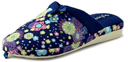 De fonseca ciabatte pantofole cotone da donna mod. verona w303 blu (38)