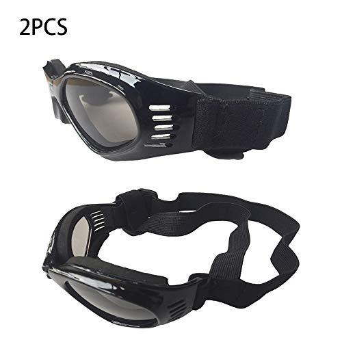 DLDL Hundebrille UV-Schutz Sonnenbrille Corgi Brille Faltbare Pet Eye tragen Winddichte Brille, für kleine und mittlere Hunde