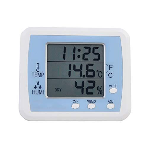 Kai Xin Termohigrómetro Digital Monitor, higrómetro de precisión, en Interiores y Exteriores termómetro...