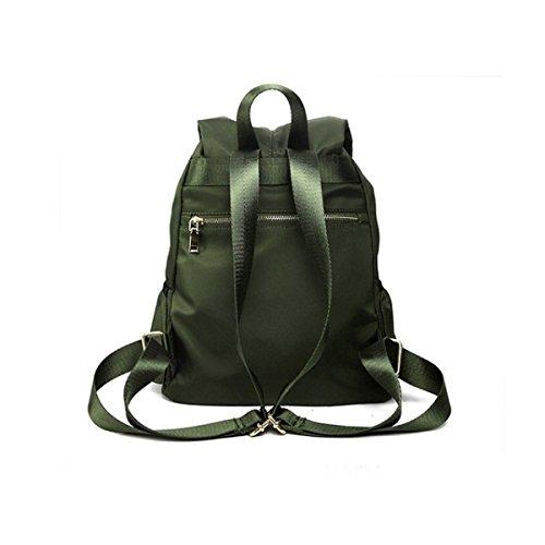Unisex Grande Casual Scuola Di Nylon Di Viaggio Zaino Tracolla Bookbag Con Multicolore Stringa Di Tappo Green