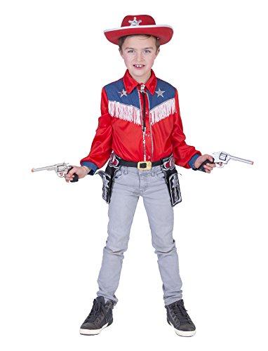 Funny Fashion Kostüm Cowboy Sean Kind Größe 116 Western Wilder Westen ()