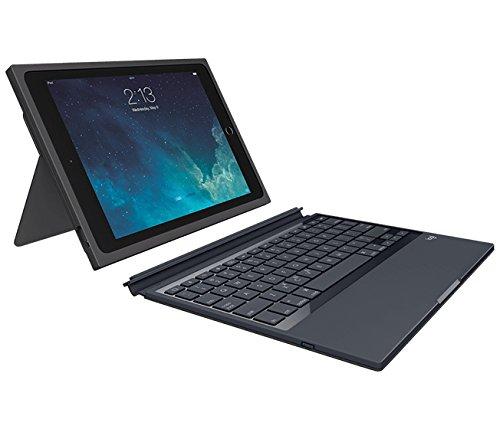 Logitech Blok Étui de Protection avec Clavier AZERTY Détachable pour iPad Air 2 Noir/Noir