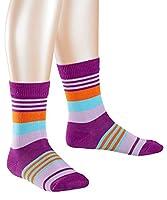 FALKE Girl's Irregular Stripe Socks, Mehrfarbig (Mehrfarbig (Crocus 6962) 6962), 6-8.5