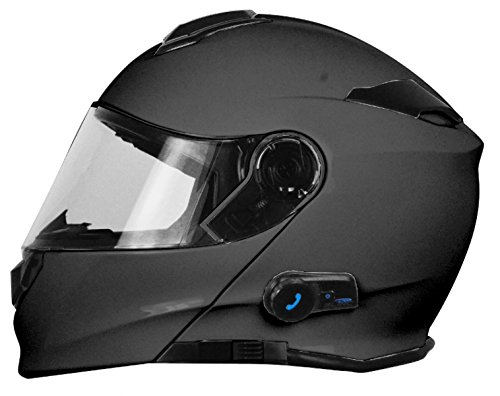 Origine Helmets - Casco de moto - Modelo Origine Delta Solid Matt Titanium - Casco abatible con Bluetooth integrado - Talla XL