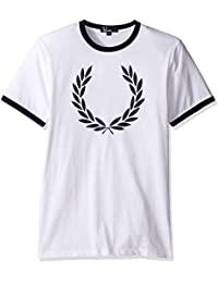 Fred Perry Laurel Wreath Ringer Tee shirt White, T-Shirt
