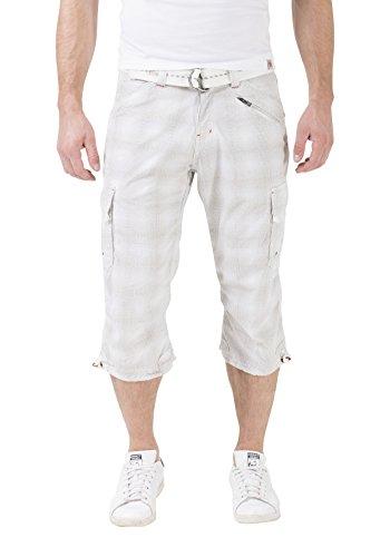 Timezone Herren Shorts Weiß (White Check 1013)