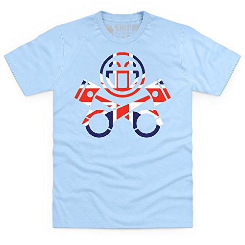 PistonHeads UK Flag T-Shirt, Herren Himmelblau